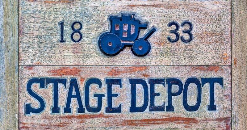 Stagecoach-Zeichen stockfoto