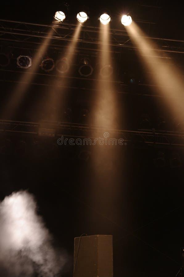 Stagelights imagens de stock