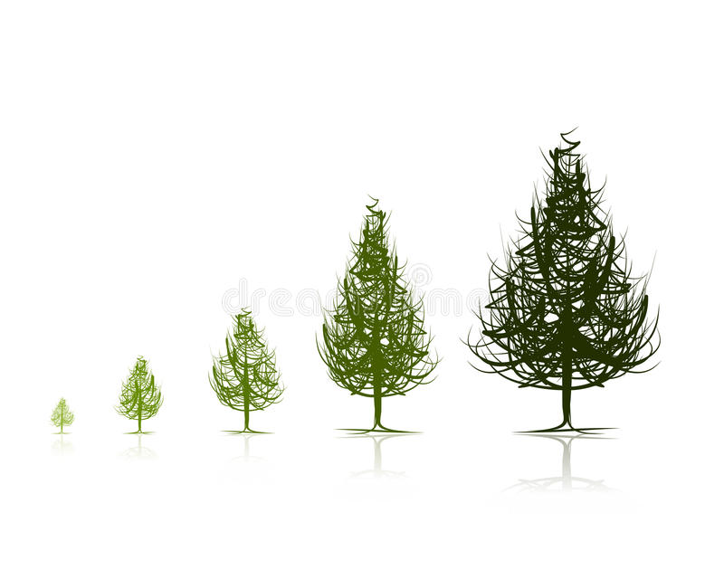 Download Stages Of Growing Tree For Your Design Stock Vector - Illustration: 32000959