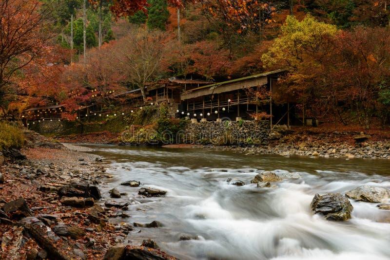 Stagione di autunno di Kyoto fotografia stock libera da diritti