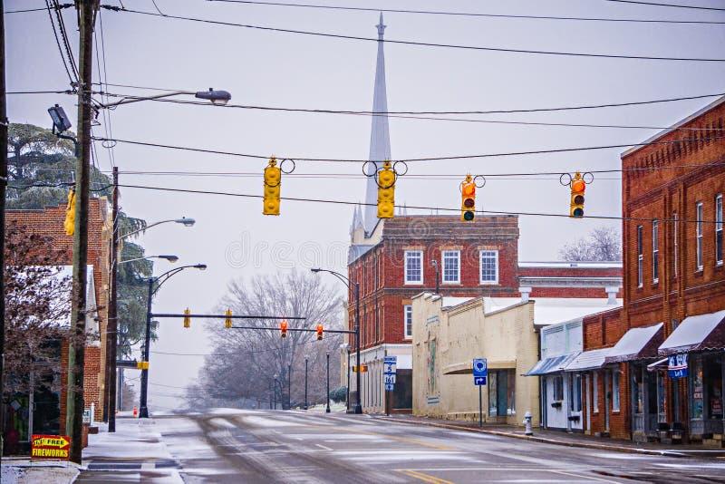 Stagione invernale a York Carolina del Sud immagine stock