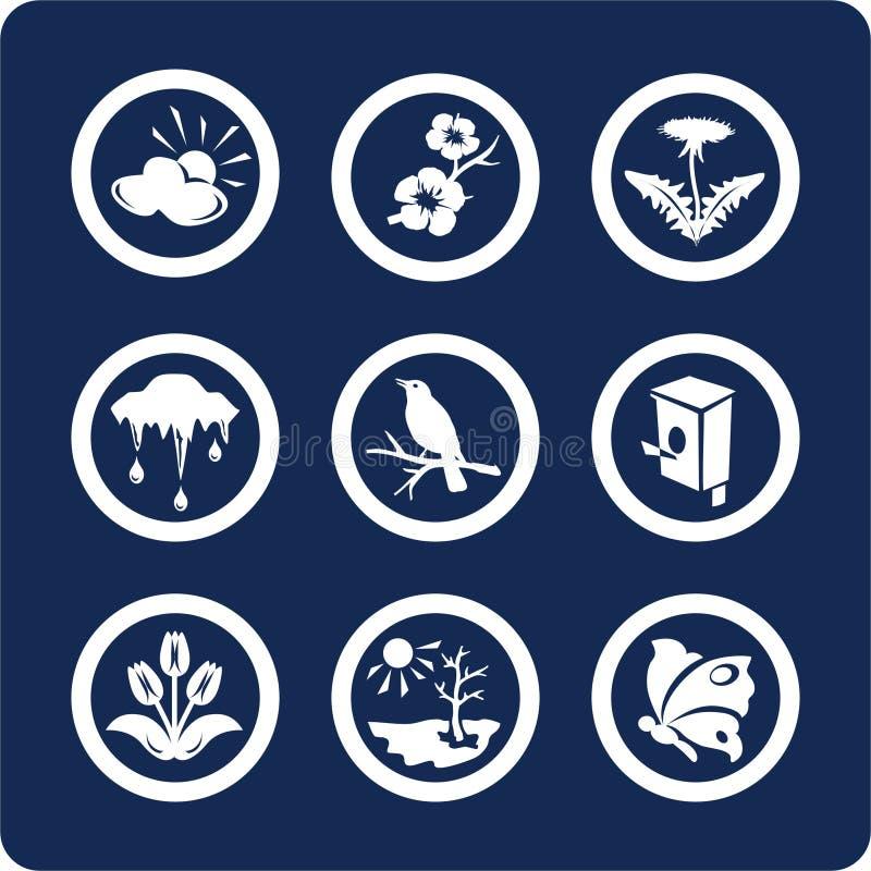 Stagioni: Icone della sorgente (imposti 3, la parte 2) royalty illustrazione gratis