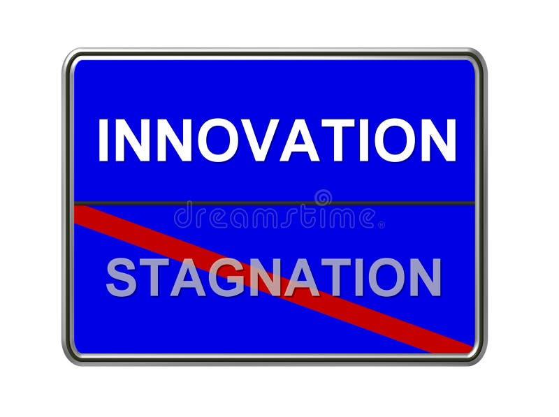 stagnation för innovation inte vektor illustrationer