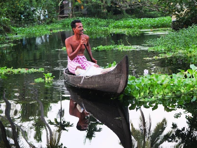 Stagni del Kerala, India immagine stock libera da diritti