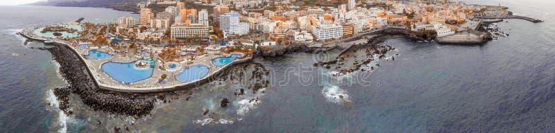 Stagni famosi a Puerto de la Cruz, Tenerife fotografie stock libere da diritti