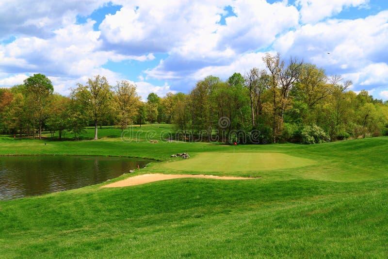Stagno del campo da golf fotografie stock