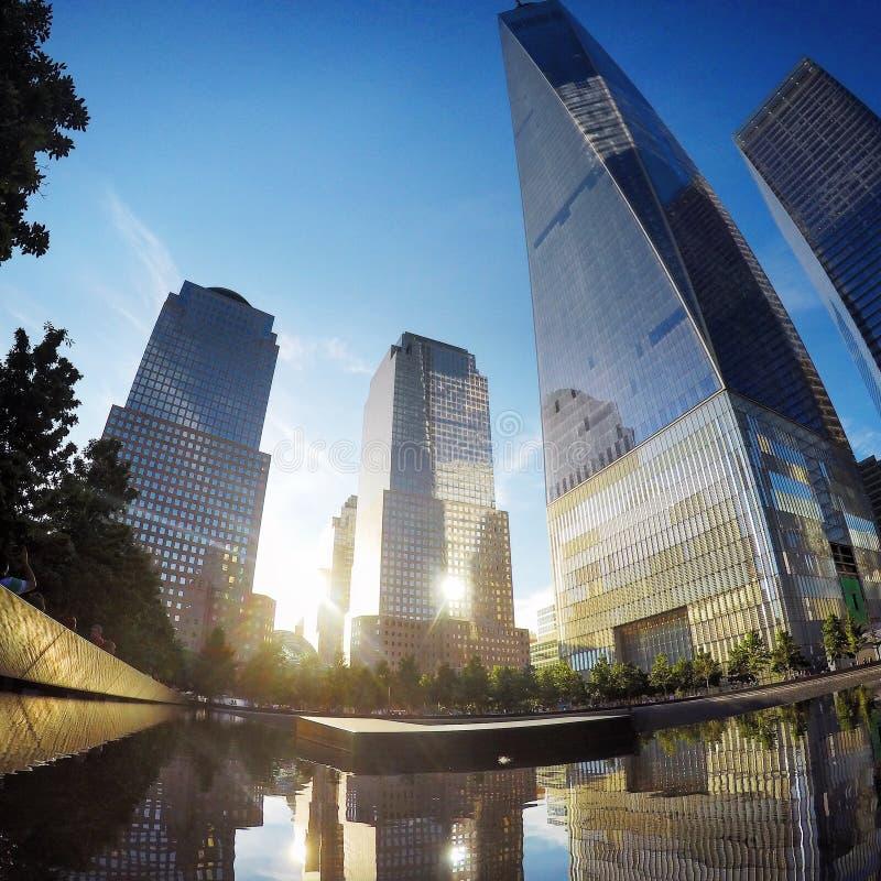 Stagno del memoriale del World Trade Center immagini stock