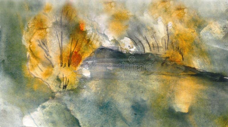 Download Stagno di autunno illustrazione di stock. Illustrazione di paesaggio - 30830059