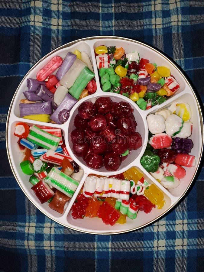 Stagno di caramelle alla vecchia epoca assortite immagini stock libere da diritti
