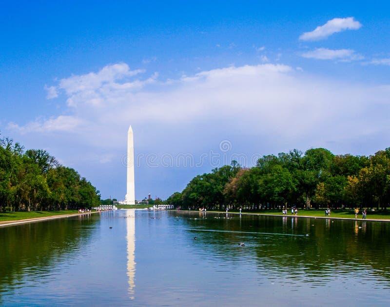 Stagno di riflessione del monumento di Washington fotografia stock libera da diritti