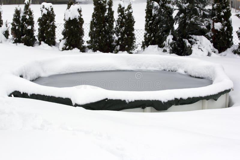 Stagno nell'inverno fotografie stock libere da diritti