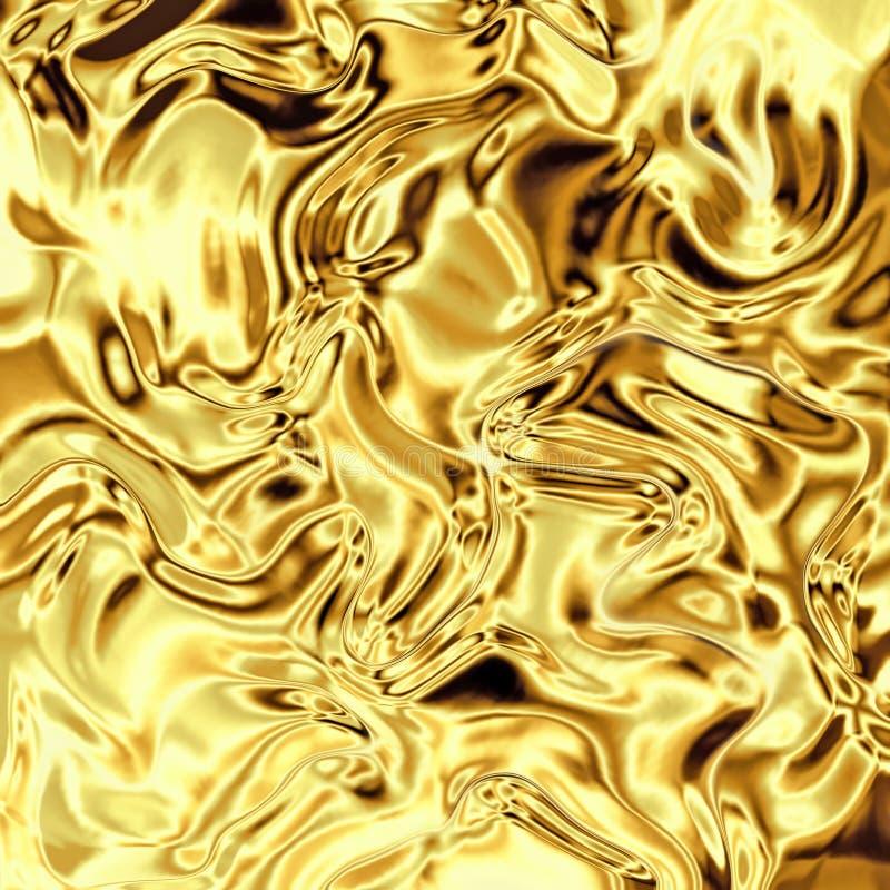 Stagnola di oro curva illustrazione vettoriale