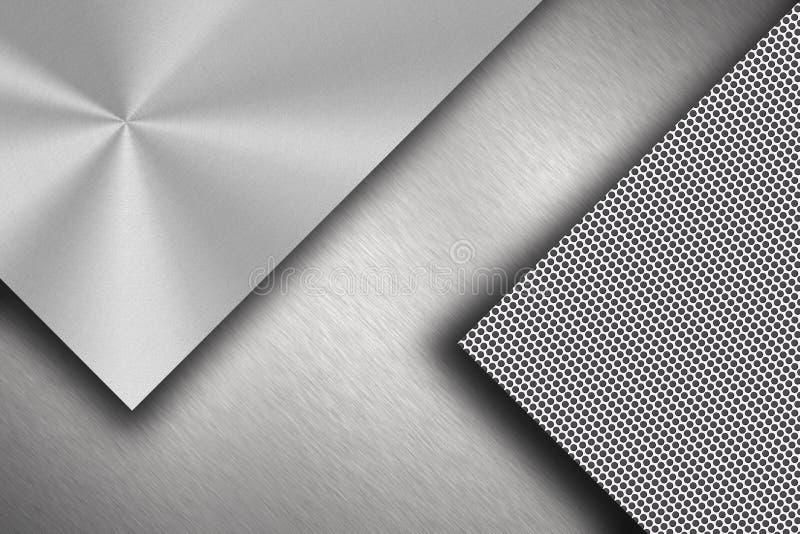 Stahl überlagert Hintergrund lizenzfreie abbildung