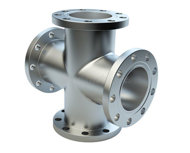 Stahl flanschte Rohr für industrielle Ausrüstung der Verbindung lizenzfreie abbildung