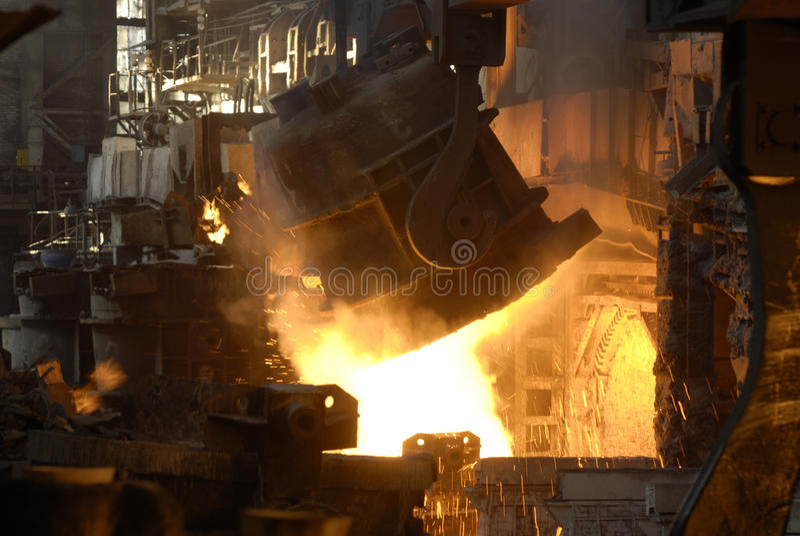 Stahl-Gussteil Abteilung stockfoto