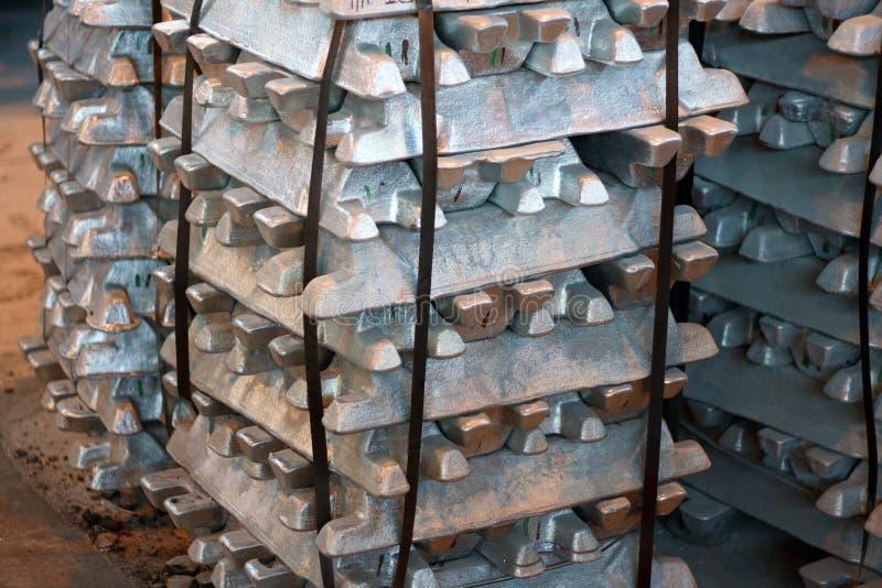 Stahlbarren stockbild