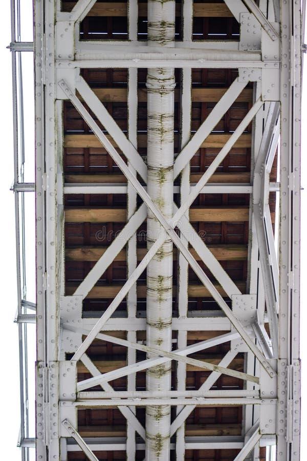 Stahlbau, Gitter schloss durch eine alte Methode für Niet an lizenzfreie stockfotografie