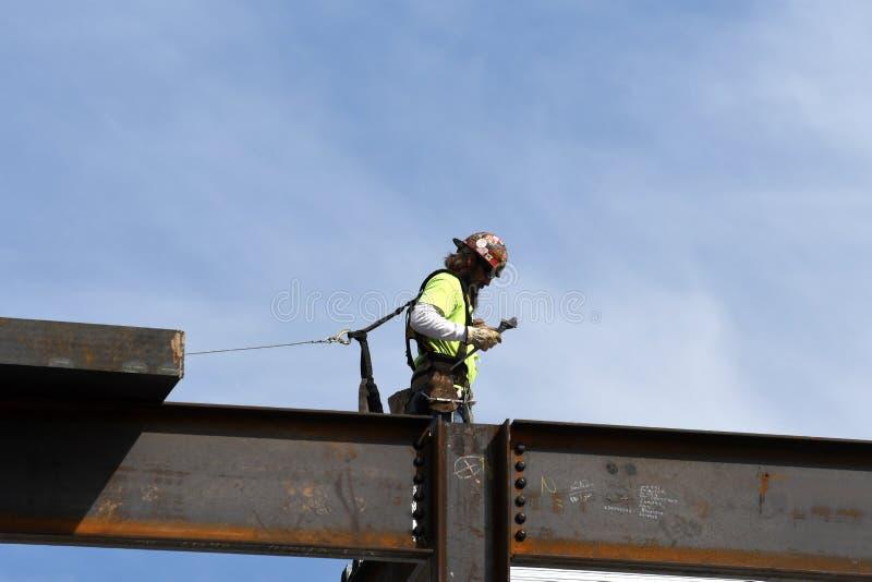 Stahlbaustelle lizenzfreies stockbild