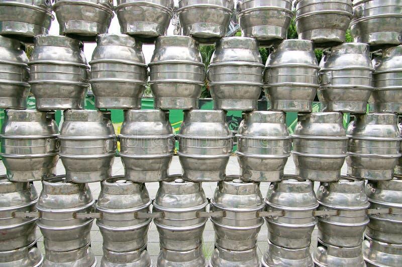 Stahlbierfaß lizenzfreies stockbild