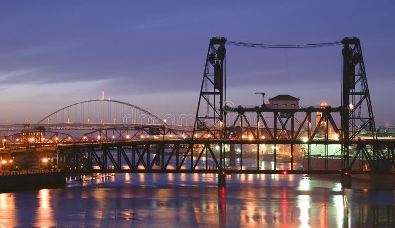 Stahlbrücke stockfoto
