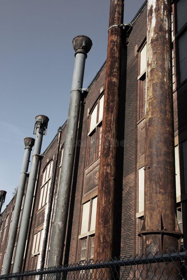 Stahlfabrikdetail stockbild