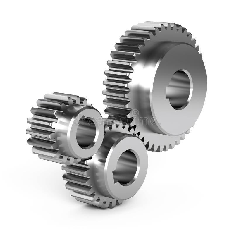 Stahlgangräder lizenzfreie abbildung