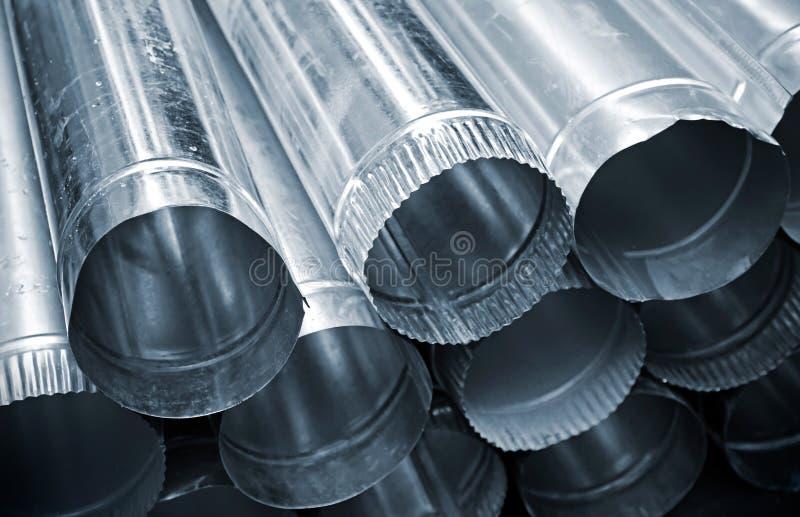 Stahlgefäßhintergrund stockfoto