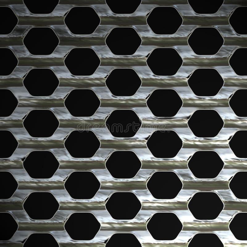 Stahlineinander greifen stock abbildung