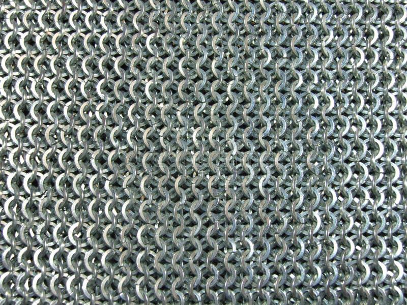 Stahlkettenhemd-Beschaffenheit stockbilder