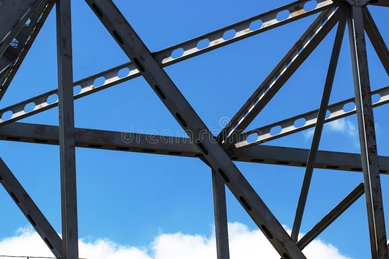 Stahlkonstruktionsbau Zusammenfassungs-Hintergrund stockfotos