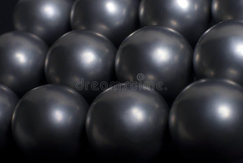 Stahlkugeln stockfotos