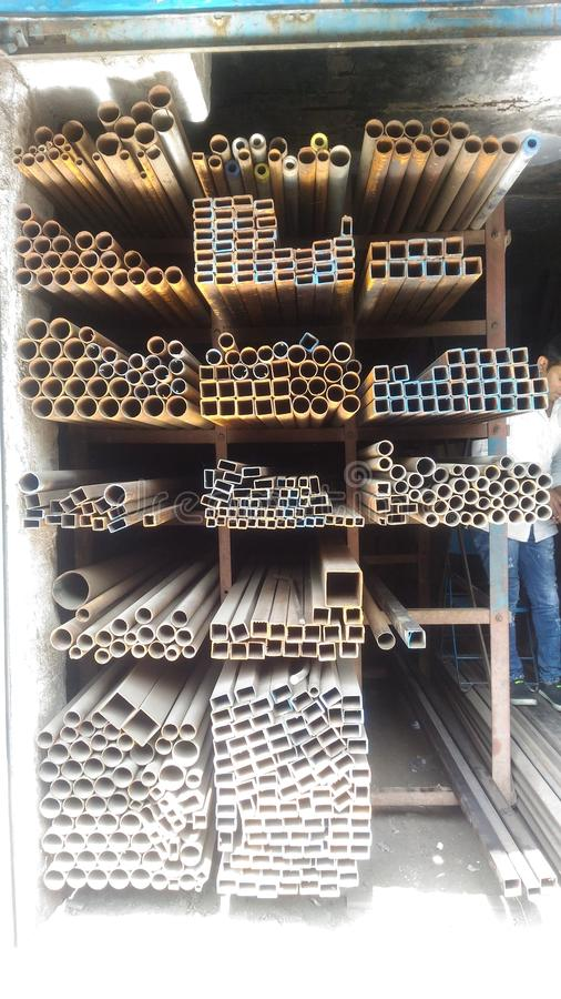 Stahlmarkt in Indien stockfoto