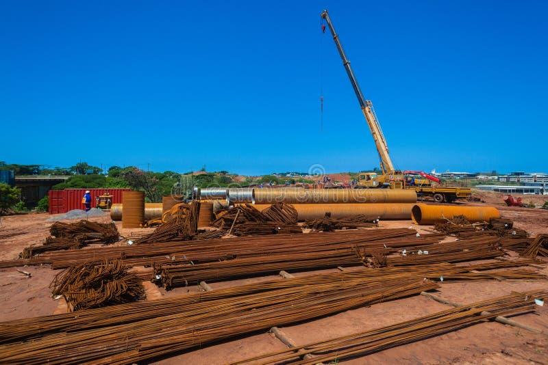 Stahlmaterial-Baustelle lizenzfreies stockfoto