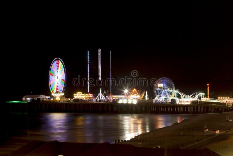 Stahlpier - Atlantic City, New-Jersey (Nacht) stockbild