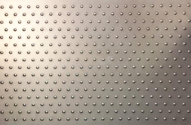 Stahlplatte mit Antibelegknöpfen lizenzfreies stockbild