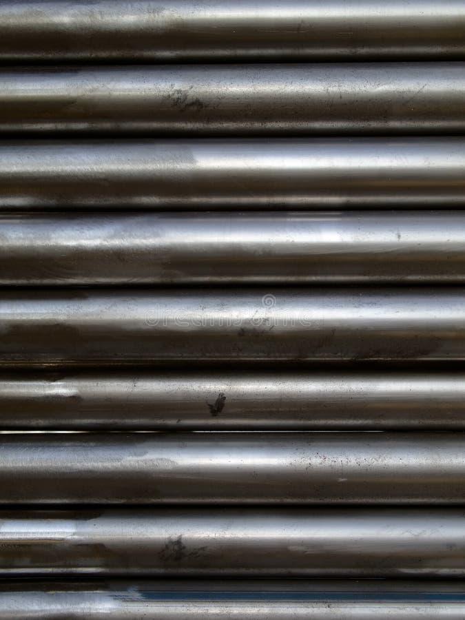 Stahlrohr-Hintergrund stockbilder