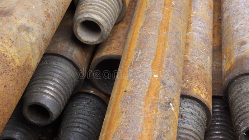 Stahlrohre industriell lizenzfreies stockfoto