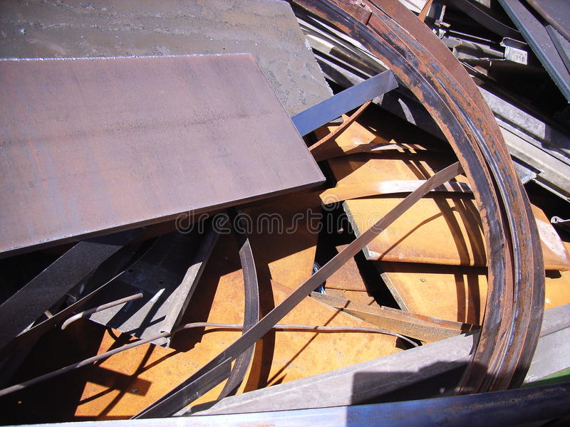 Stahlschrott lizenzfreies stockfoto
