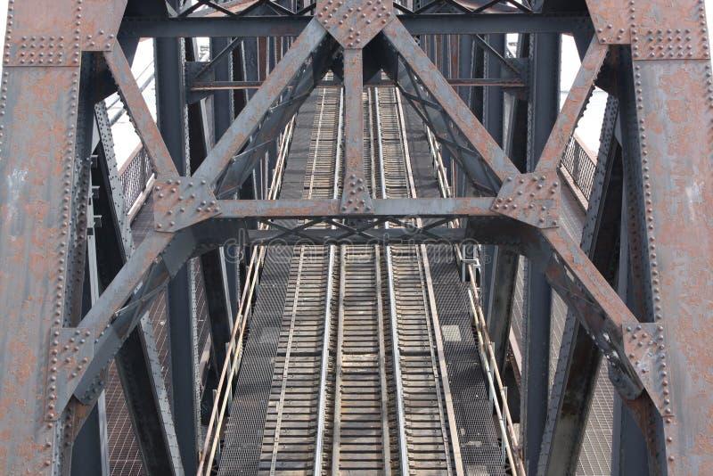 Stahlserien-Brücke stockfotos
