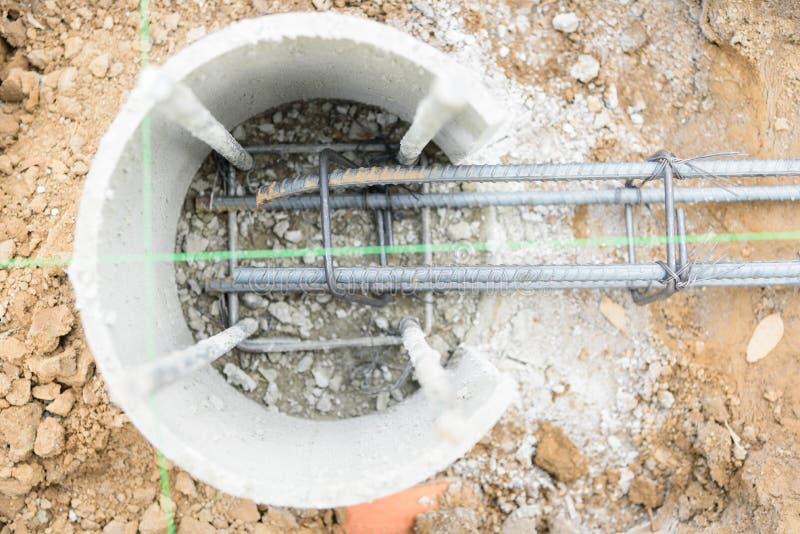 Stahlstange für Pour der Strahl lizenzfreie stockbilder