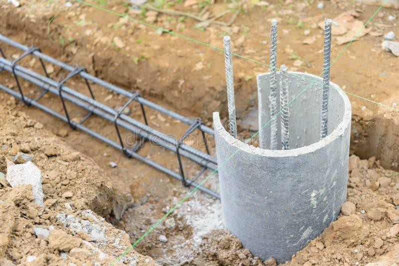 Stahlstange für Pour der Strahl stockfotos