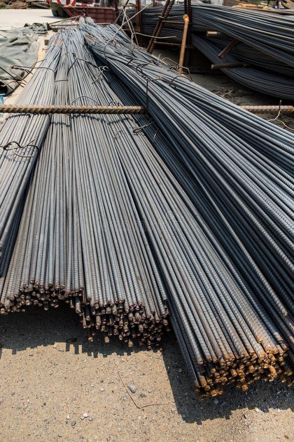 Stahlstangen oder Stangen lizenzfreies stockfoto