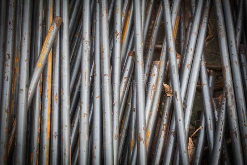 Stahlstangen oder Stangen benutzt, um zu verstärken stockbild