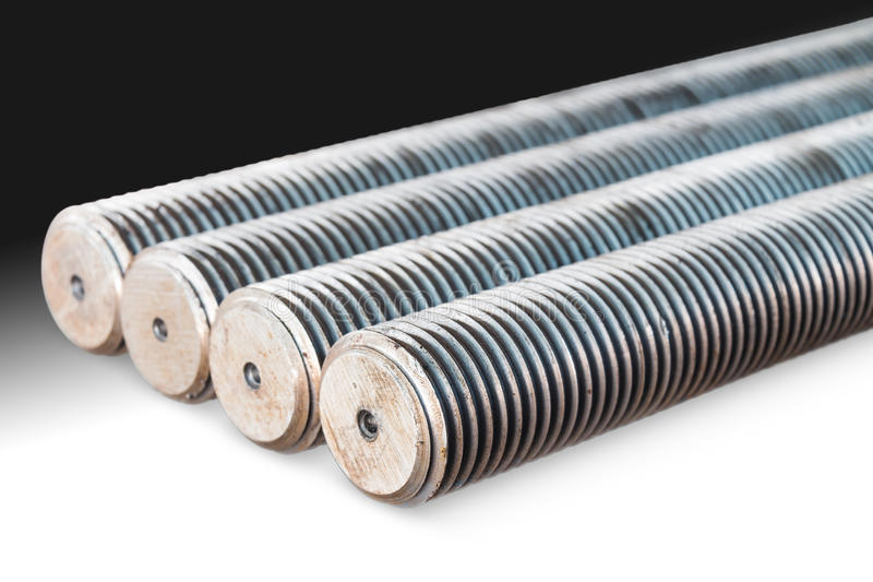 Stahlstifte (studbolts) lizenzfreie stockbilder