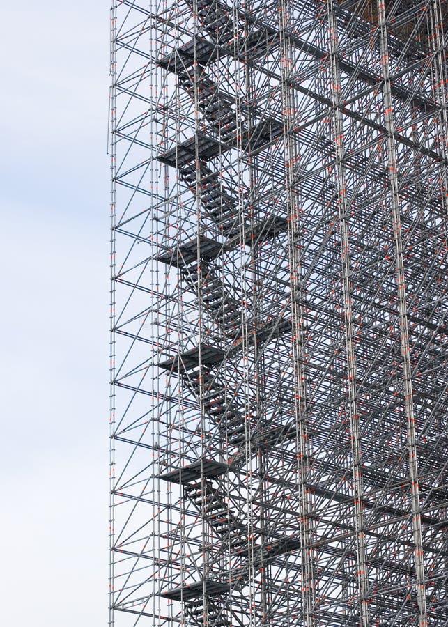 Stahltreppen stockbild