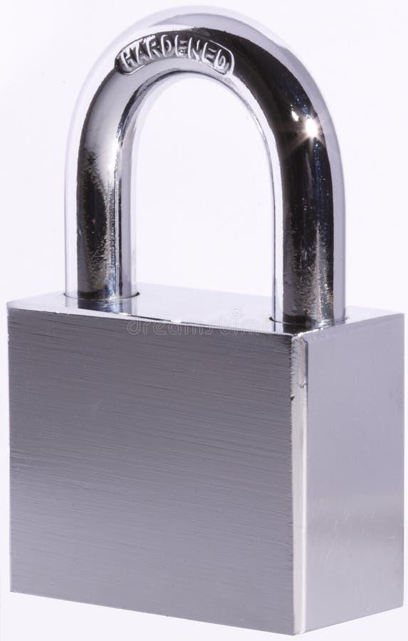 Stahlvorhängeschloß lizenzfreies stockbild