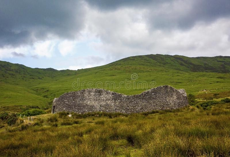 Staigue stone fort. Sneem, Ireland, Europe royalty free stock photos