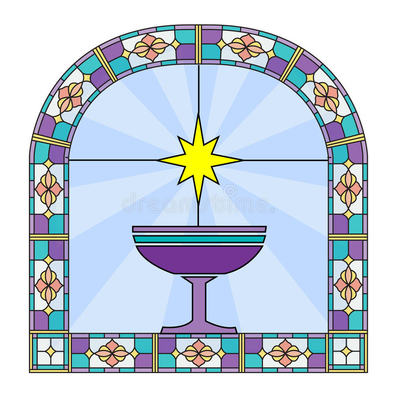 Download Stain glass stock illustration. Image of believe, star - 22124386