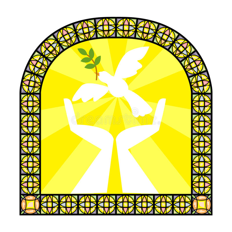 Stain glass royalty free illustration