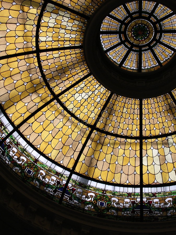 Stain Glass Ceiling royalty free stock photos